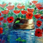 """Poppies and a Clay Pot"" by mazz"