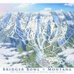 """Bridger Bowl Montana"" by jamesniehuesmaps"