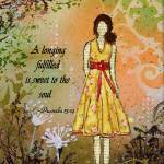 """A Longing Fulfilled Art with Bible Verse Janelle N"" by JanelleNichol"