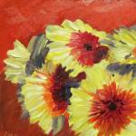 """Yellow and Red Gerberas"" by lisampaynestudio"