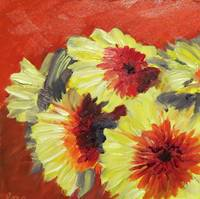 Yellow and Red Gerberas