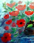 Poppies by Mazz Original Paintings