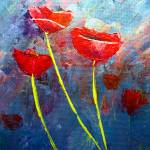 """Three Poppies"" by mazz"