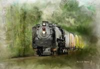 Old Steam Engine - oil paint