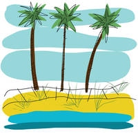 Beach Day Palms 2