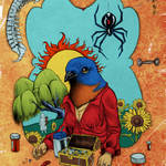 """Bluebird of Happiness"" by BairdHoffmire"
