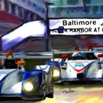 """Baltimore Grand Prix by the Marriott Inner Harbor"" by ArtbySachse"
