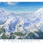 """Mt Baker Washington"" by jamesniehuesmaps"