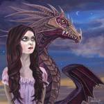 """Maiden and Her Dragon"" by susanvansant"