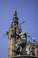 God of sea. Neptune statue. Gdansk.