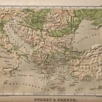 """Vintage Physical Map of Greece "" by Alleycatshirts @Zazzle"
