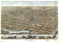 Vintage Map of Dayton Ohio (1870)