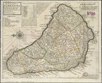 Vintage Map of Barbados (1736)