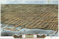 Vintage Map of Erie Pennsylvania (1870)
