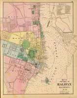 Vintage Map of Halifax Nova Scotia (1878)