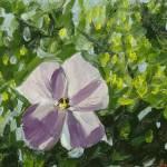 """""""Purple Lake Flower"""" by lisampaynestudio"""