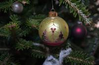 christmas toy decoration on christmas tree