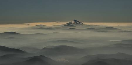 View from Mt Hood to Mt Jefferson