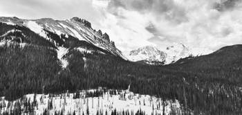Never Summer Wilderness Area Panorama BW
