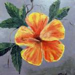"""Yellow Hibiscus Painting"" by mazz"
