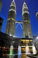 Petronas Towers and Water Show
