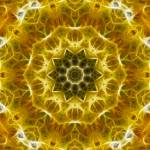 """""""Golden Abstract Tile 72 Framed"""" by bloomingvinedesign"""
