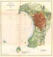 Vintage Map of Burlington Vermont (1872)