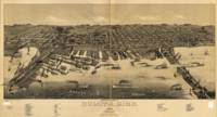 Vintage Map of Duluth Minnesota (1887)
