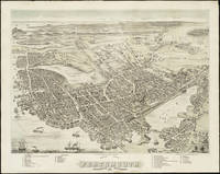 Vintage Map of Portsmouth NH (1877)