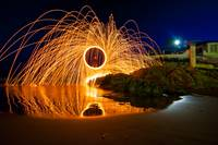 Firewheel on the shore