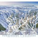 """Powderhorn, Colorado"" by jamesniehuesmaps"