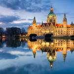 """City Hall of Hannover in the evening"" by Mapics"