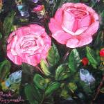 """Rose Bush Painting"" by mazz"