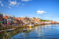 A View of Whitby Harbour in Yorkshire, England