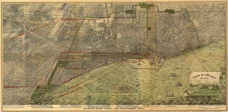 Vintage Map of Chicago (1892)