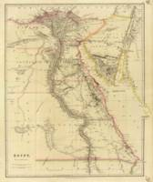 Vintage Map of Egypt (1832)