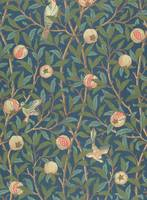 'Bird and Pomegranate' Wallpaper Design, printed