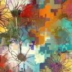"""""""Scribble Floral One"""" by RuthPalmer"""