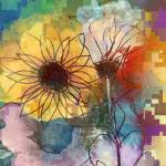 """""""Scribble Floral Two"""" by RuthPalmer"""