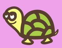 Nursery art- baby turtle