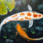 """Koi with Lily Pads"" by mazz"