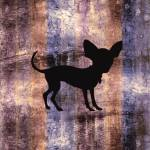 """Chihuahua Silhouette on Sunset Beach Oil"" by SignaturePromos"
