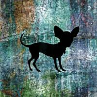 Chihuahua Silhouette on Architectural Oil