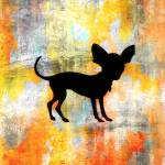 """Chihuahua Silhouette on Citrus Colorwash"" by SignaturePromos"