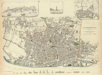 Vintage Map of Liverpool England (1835)