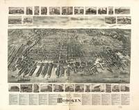 Vintage Pictorial Map of Hoboken NJ (1904)