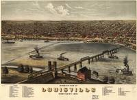 Vintage Pictorial Map of Louisville Kentucky (1876