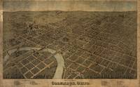 Vintage Pictorial Map of Columbus Ohio (1872)