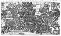 Vintage Map of London England (1677)