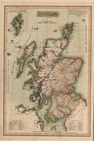 Vintage Map of Scotland (1814)